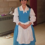 Backstage as Belle in Beauty & The Beast